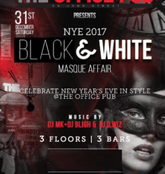 New Years Eve Black & White Black Masque Affair