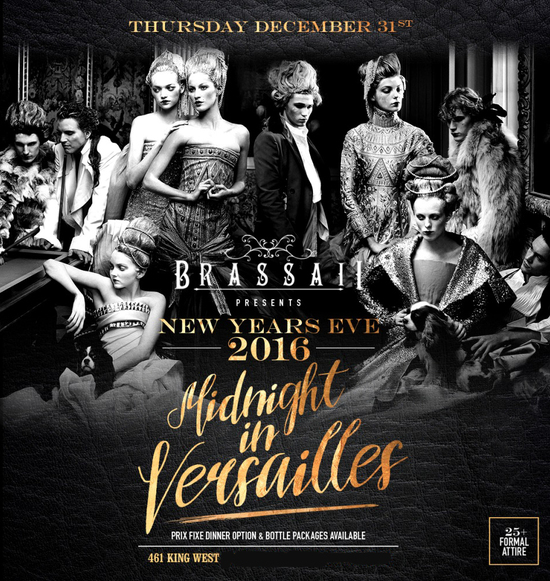 Brassaii presents New Year's Eve 2016: Midnight in Versailles