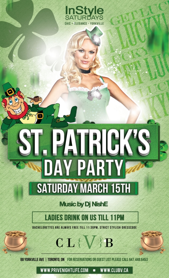 Ladies drink free till 11pm | St. Patty's Party