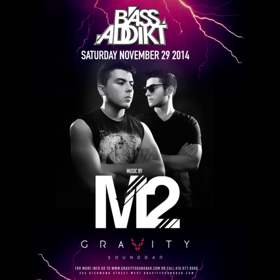 BASS ADDIKT SATURDAYS - MUSIC BY M2