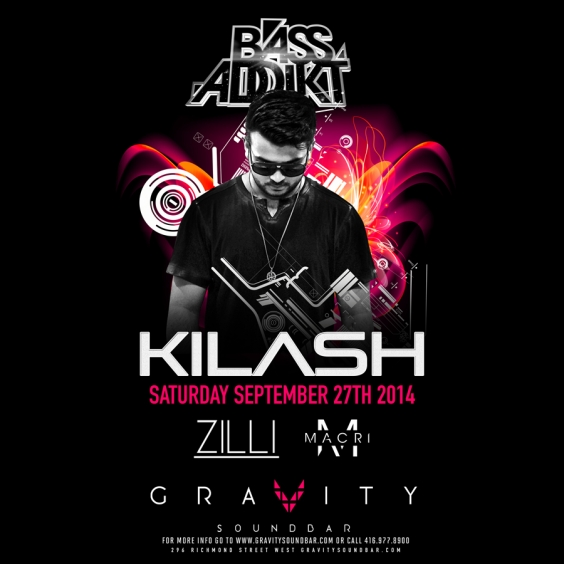 BASS ADDIKT SATURDAYS - Featuring KILASH