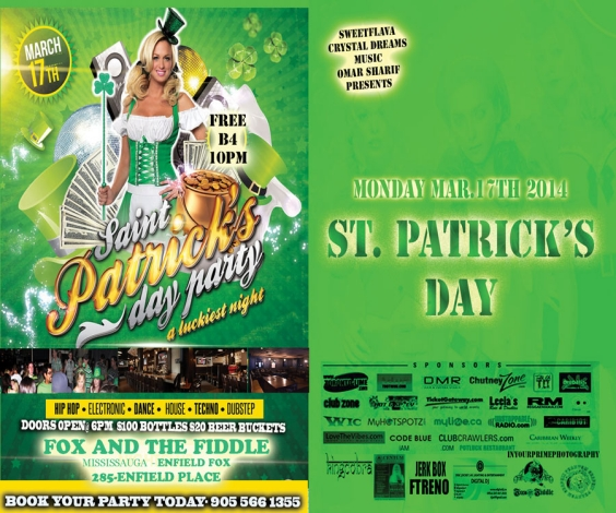 ST. PATRICK'S DAY EVENT@ FOX AND THE FIDDLE (MISSISSAUGA) ENFIELD FOX