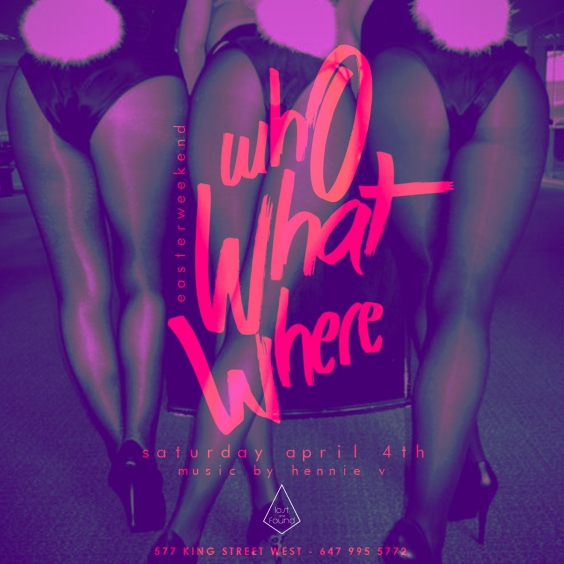 Who What Where - Easter Saturday April 4th - Lost And Found