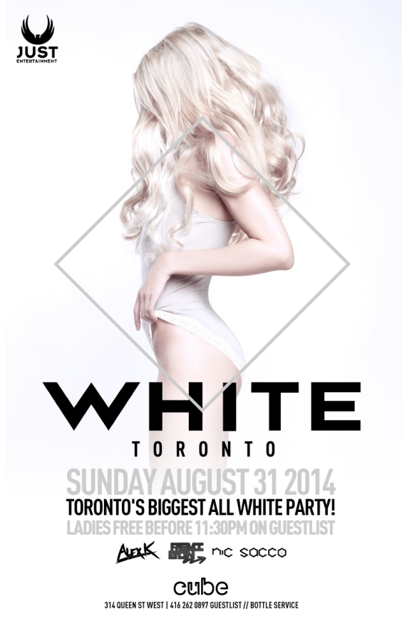 WHITE PARTY @ CUBE SUNDAY AUG 31ST LABOUR DAY LONG WKND