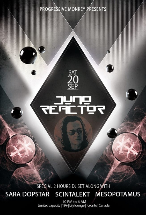 Prog. Monkey: : ★JUNO REACTOR (UK)★ - Special 2 hours DJ Set! Till 6 am!