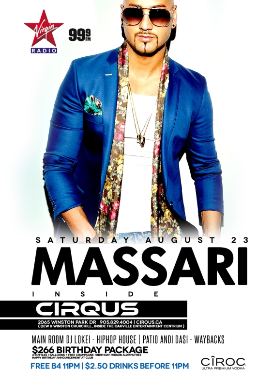 Massari inside Cirqus