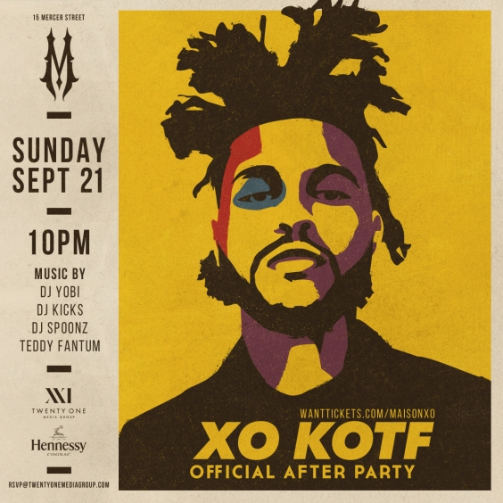 The Official King of The Fall After Party Hosted by The Weeknd