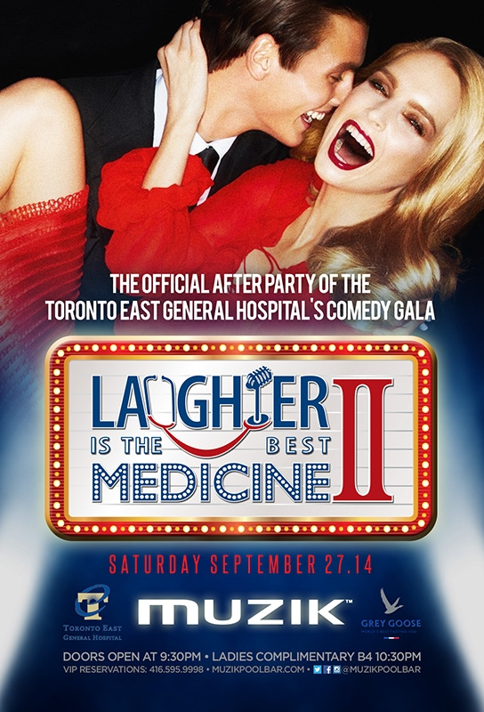 THE OFFICIAL AFTER PARTY OF THE TORONTO EAST GENERAL HOSPITAL'S COMEDY GALA | SEPTEMBER 27.14