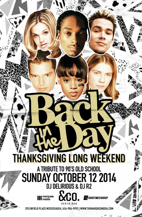 BACK IN THE DAY 90's PARTY | THANKSGIVING LONGWEEKEND