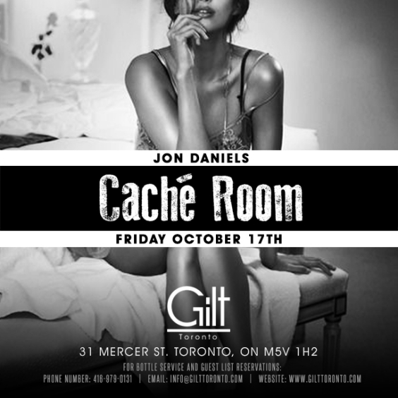 Dj Jon Daniels in the CACHÈ ROOM at GILT #Friday