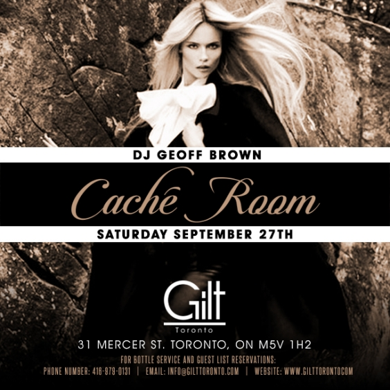 Dj Geoff Brown inside Caché Room at Gilt