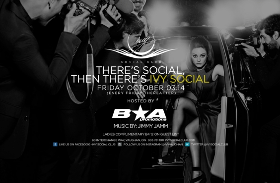 IVY SOCIAL FRIDAYs - Hosted by B&A