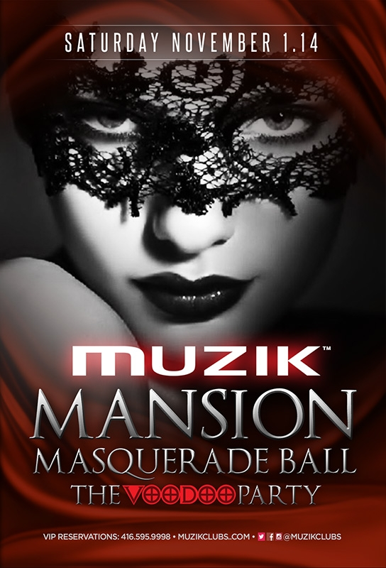MANSION MASQUERADE BALL - THE VOODOO PARTY
