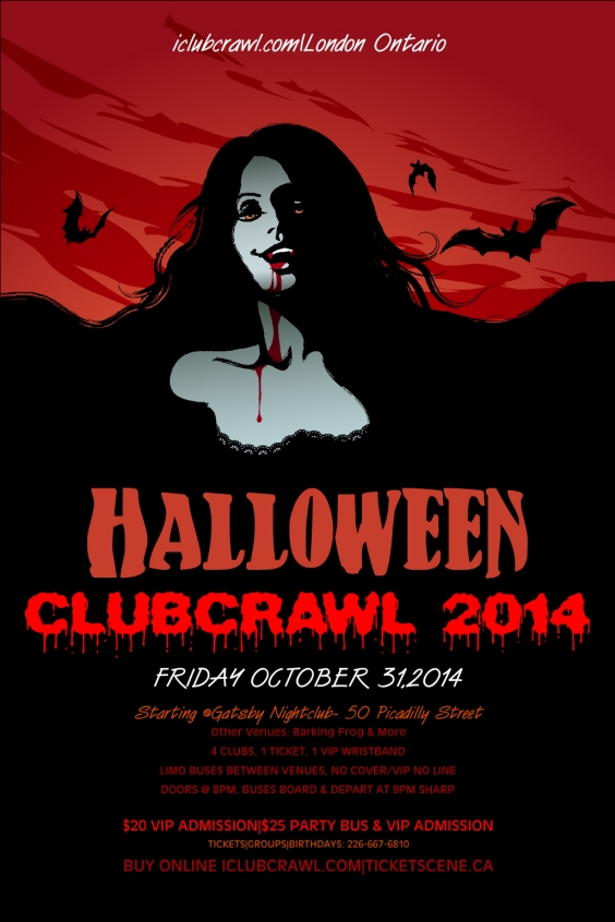 London Halloween Club Crawl 2014