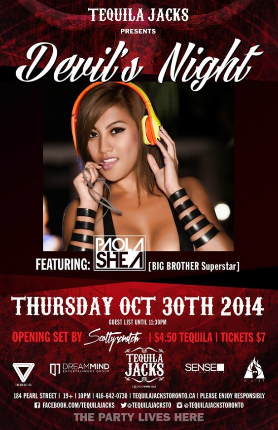 DEVILS NIGHT AT TEQUILA JACKS OCTOBER 30