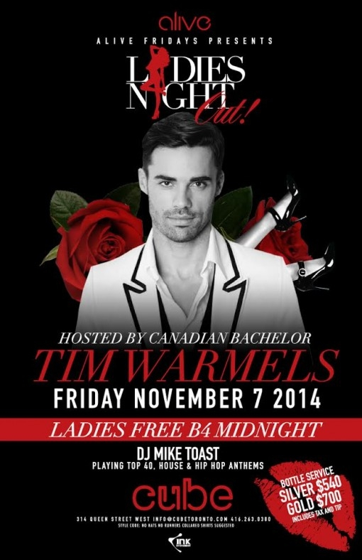 Ladies Night Out with Canadian Bachelor Tim Warmels