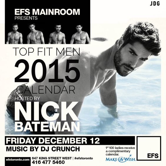 EFS Fridays presents Nick Bateman Calendar Launch Party