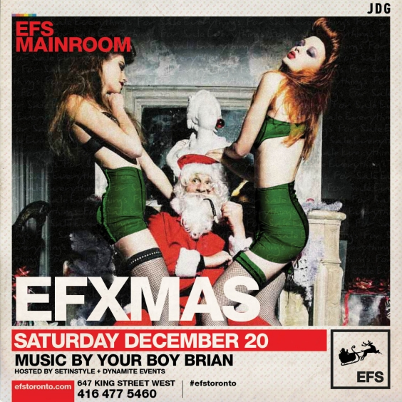 #EFSMainroom Presents EFXMAS | Sat Dec 20th