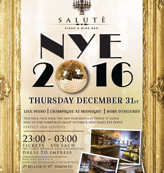 New Years Eve at Salute Piano Bar