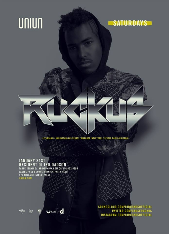Uniun Saturdays Presents Dj Ruckus