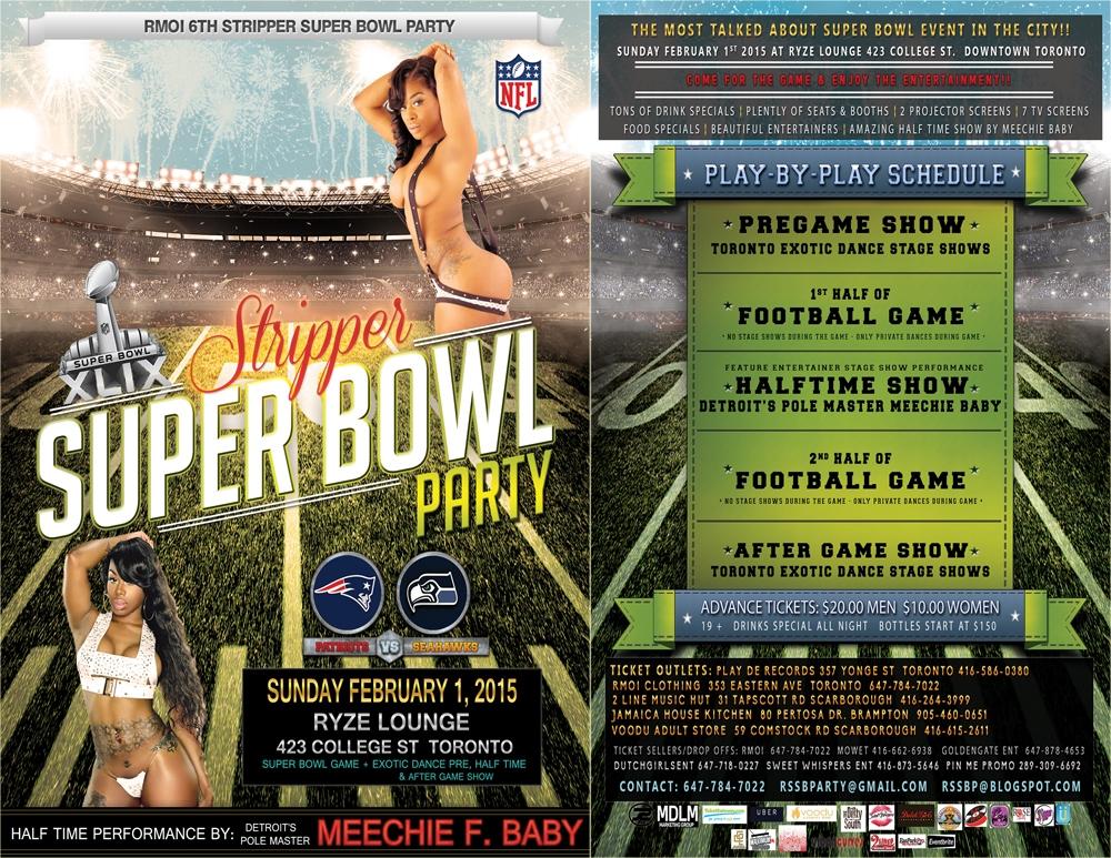 Super bowl party stripper oil show 5