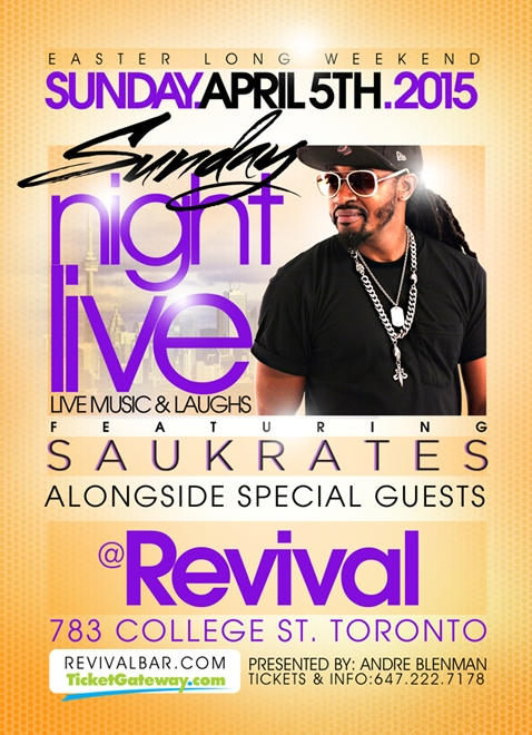 Sunday Night Live ft. Saukrates & Special Guests