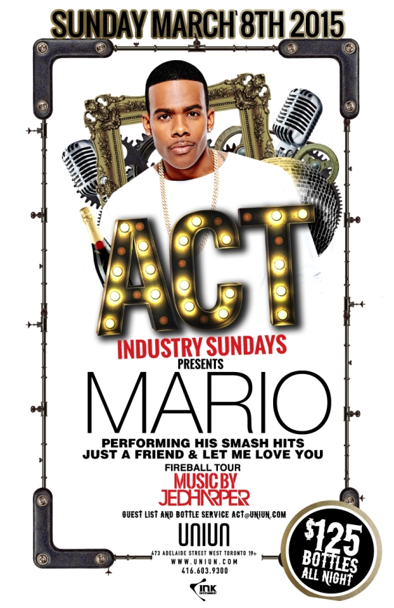 ACT Sundays - MARIO performing LIVE!