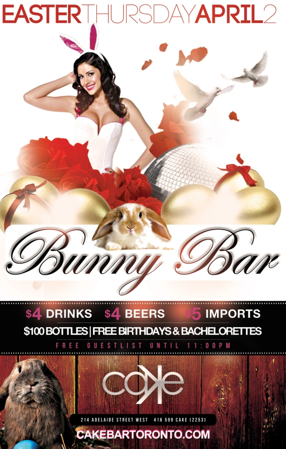 BUNNY BAR Easter Thursday
