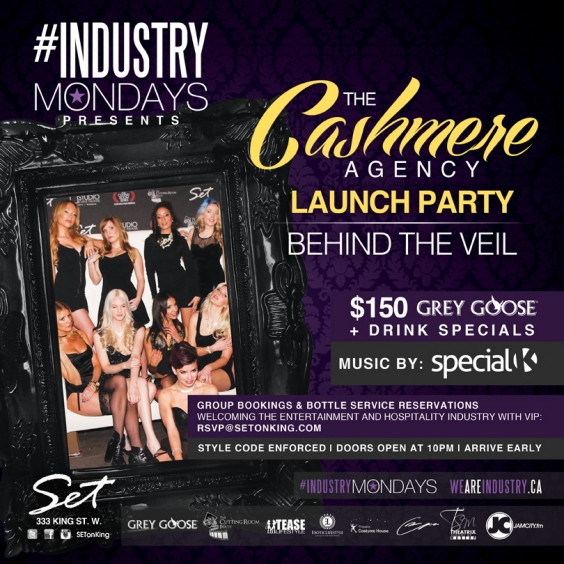 #INDUSTRYMONDAYS ★ BEHIND THE VEIL ~ March 30th ~ CASHMERE Launch Party | #SETonKing