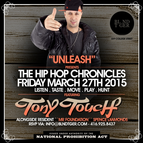 The Hip Hop Chronicles - TONY TOUCH Live From NYC