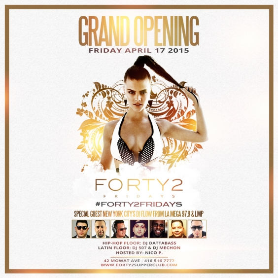 #FORTY2FRIDAYS GRAND OPENING