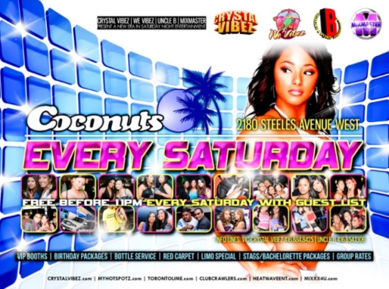 Coconuts Saturdays