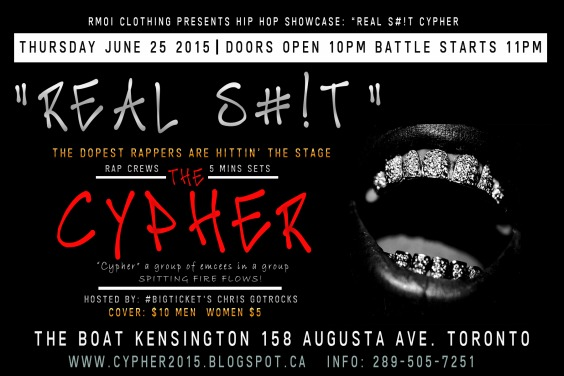 REAL S#!T: THE CYPHER Hip Hop Showcase