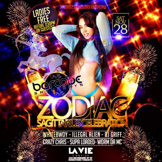 Barcode Saturdays | SAGITTARIUS PARTY