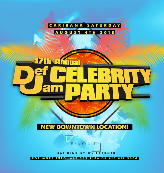 18th Annual Caribana Def Jam Celebrity Party 2019
