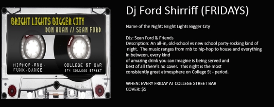 DJ Ford Sheriff  Friday