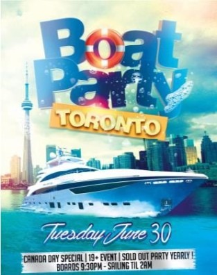 Boat Party Toronto