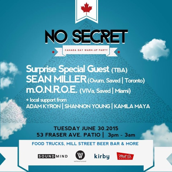 No Secret | Canada Day Warm Up Party