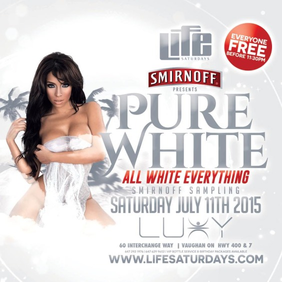 Life Saturdays - PURE WHITE - Everyone FREE Before 11:30pm