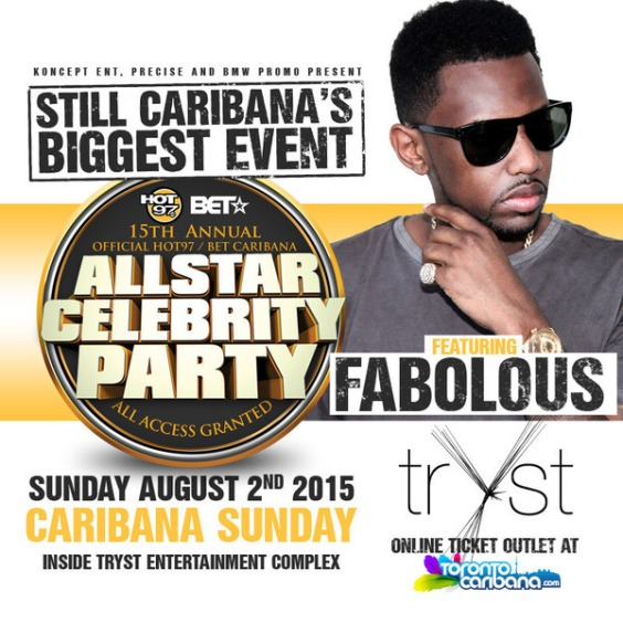 CARIBANA HOT 97 PARTY FT FABOLOUS