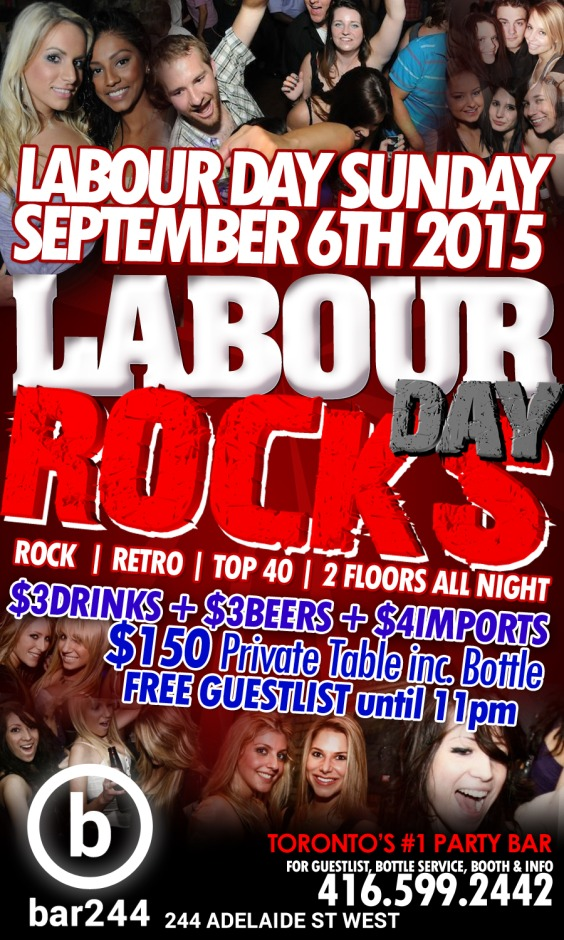 LABOUR DAY ROCKS Long Weekend Sunday