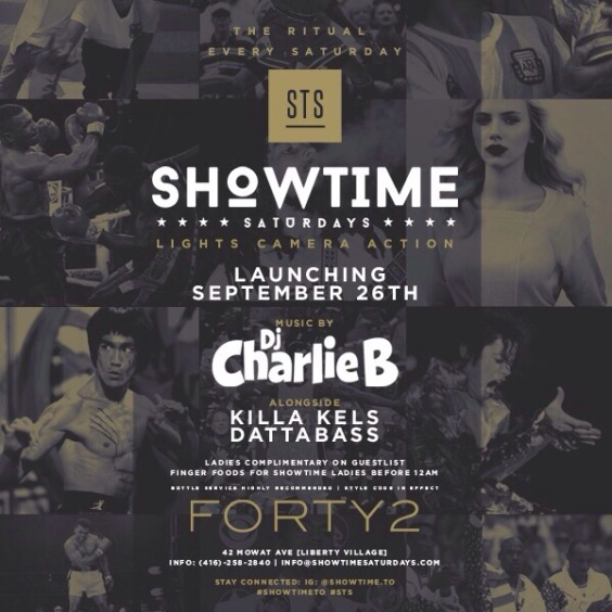 SHOWTIME SATURDAYS - Launch Party