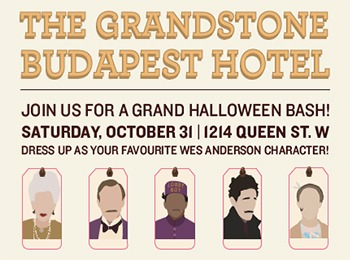 The Grandstone Budapest Hotel Halloween Bash