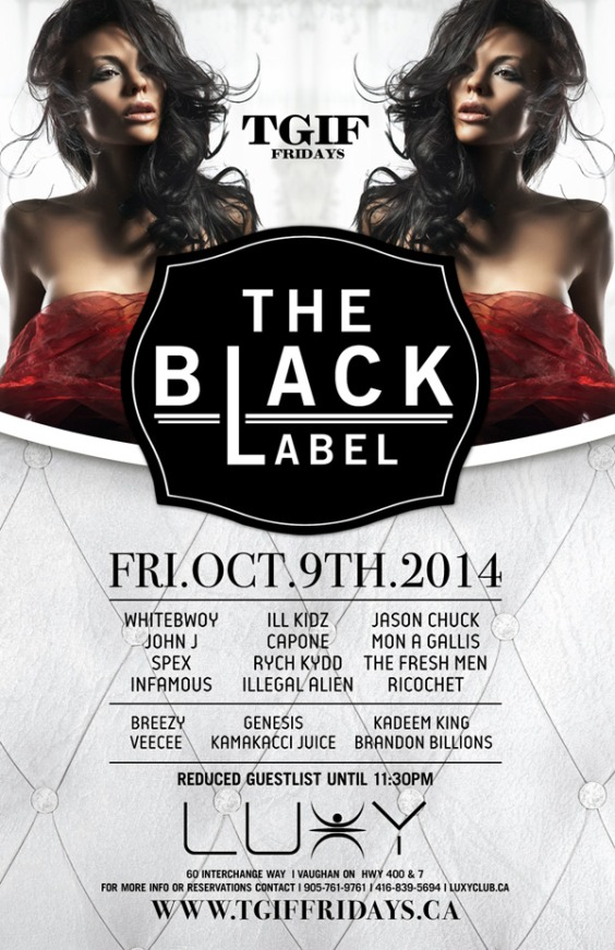 TGIF Fridays Presents Black Label
