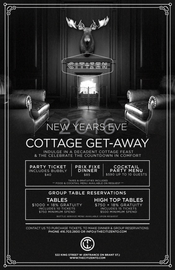 Cottage Get-Away NYE 2016