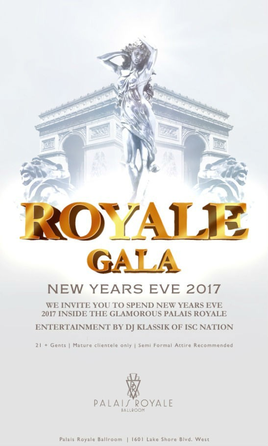 Royale Gala New Years Eve 2017