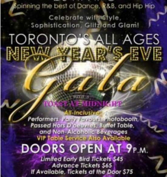 Toronto's All Ages New Year's Eve Gala