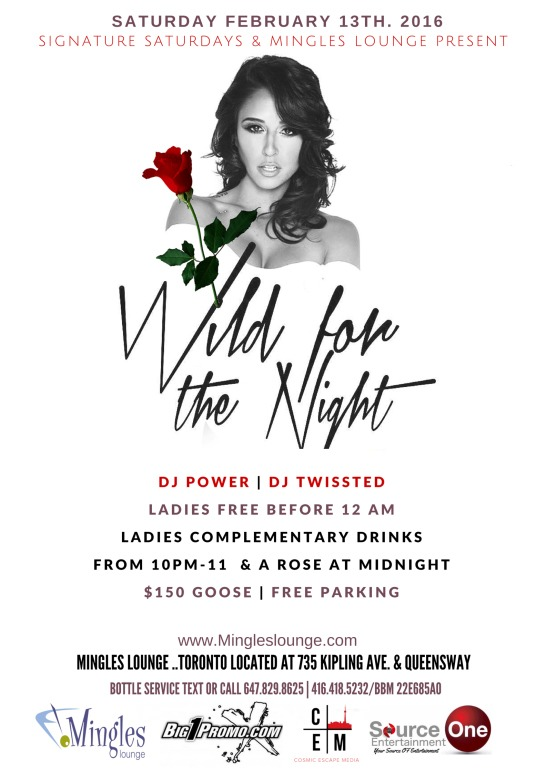 WILD FOR THE NIGHT SATURDAY@MINGLES LOUNGE