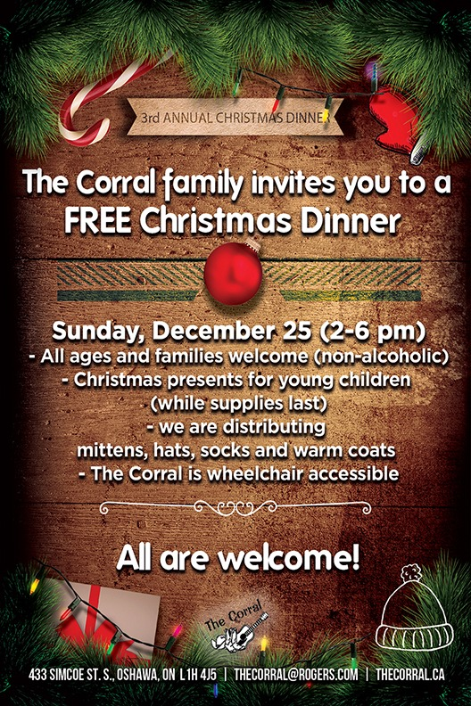 The Corral's Annual FREE Christmas Dinner