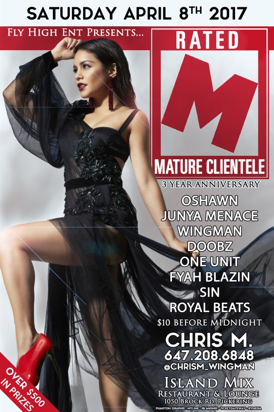 *** Rated M: Mature Clientele (3 Year Anniversary)